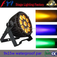 China cheap stage 9x15w 6in1 mini waterproof led par can lights