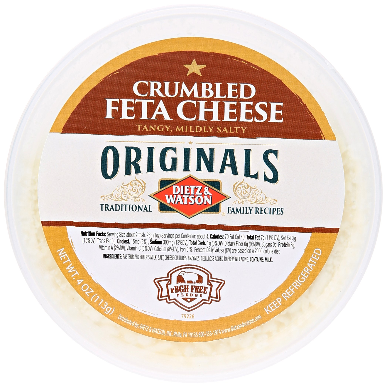 Dietz & Watson, Originals Crumbled Feta Cheese Cup, 4 oz