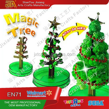 2017 hot sale christmas tree ornaments for magic growing tree