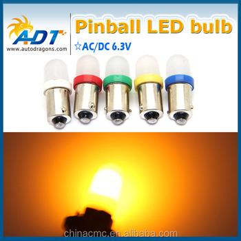 Pinball Machine #555 906 Ba9s #47 #44 6.3v Pinball Led Bulb