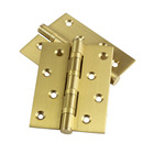 Brass [ Brass Hinge ] Brass Door Hinge 4 Inch Heavy Entry Butt Bearing Brass Door Hinge