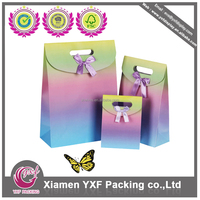 colorful ribbon bow carrying bags