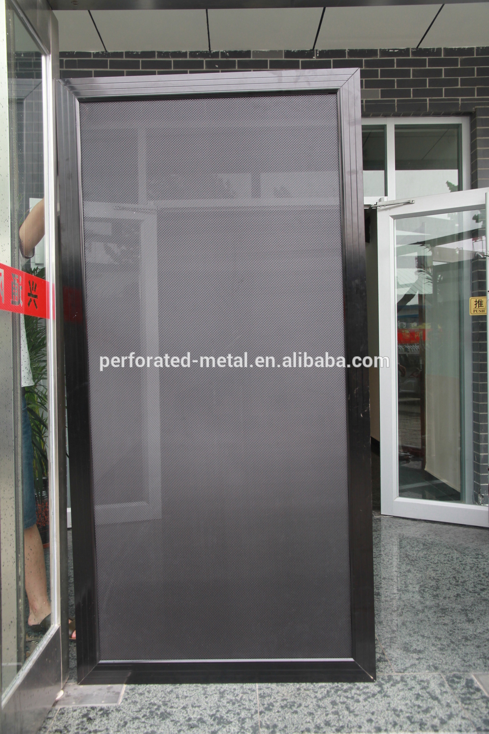 Perforated metal waterproof window screen buy window for Window mesh screen