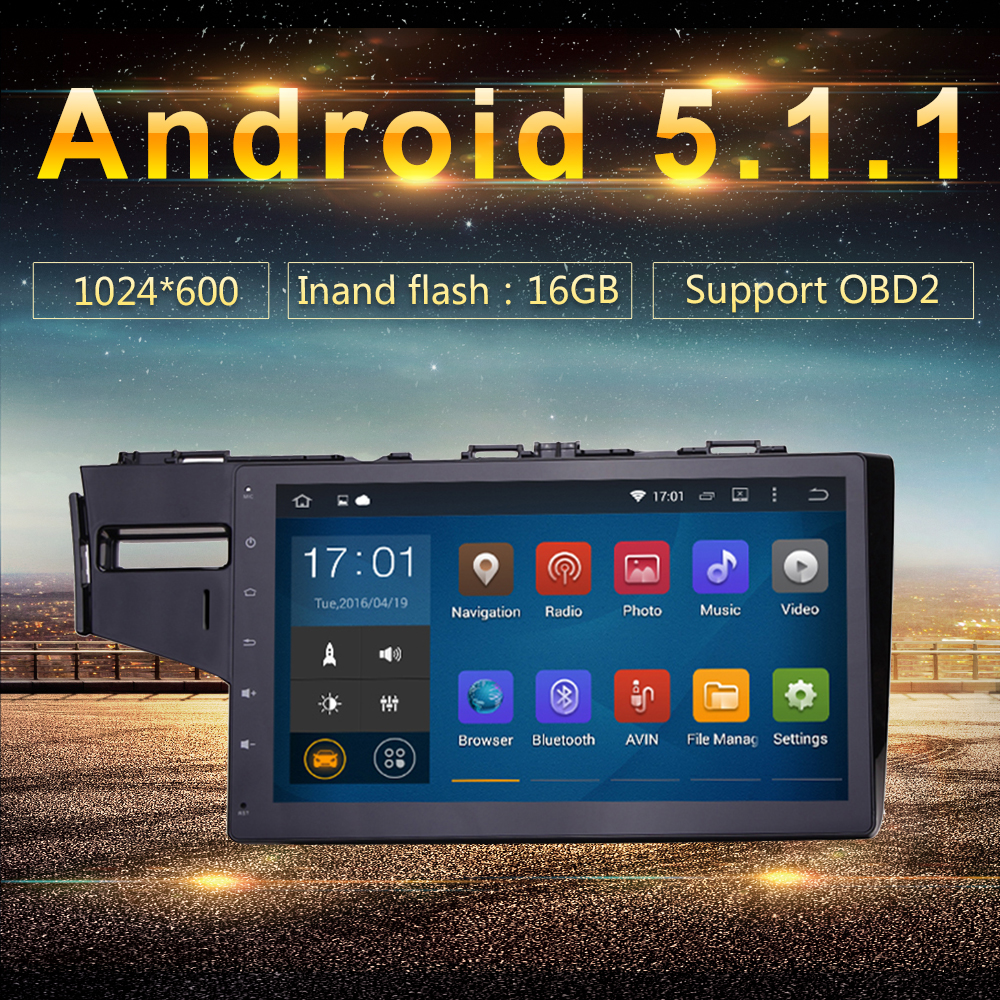 Android 5.1.1 Car PC GPS for Honda Fit Jazz 2014 2015 3G Wifi BT SD Navigation Radio RDS Stereo System