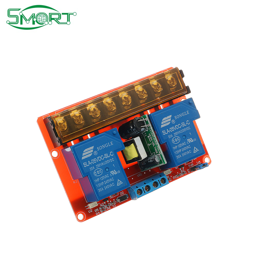 1//2//4 Kanal Relais Module Board With Optokoppler High//Low Level Triger 30A