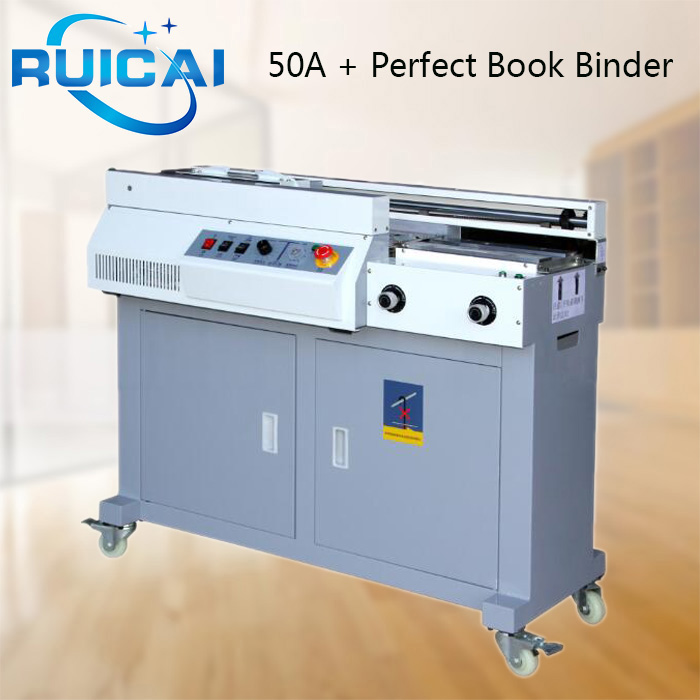 Perfect Book Booklet Maker Soft Hard Cover Hot Melt Glue Binding Machine