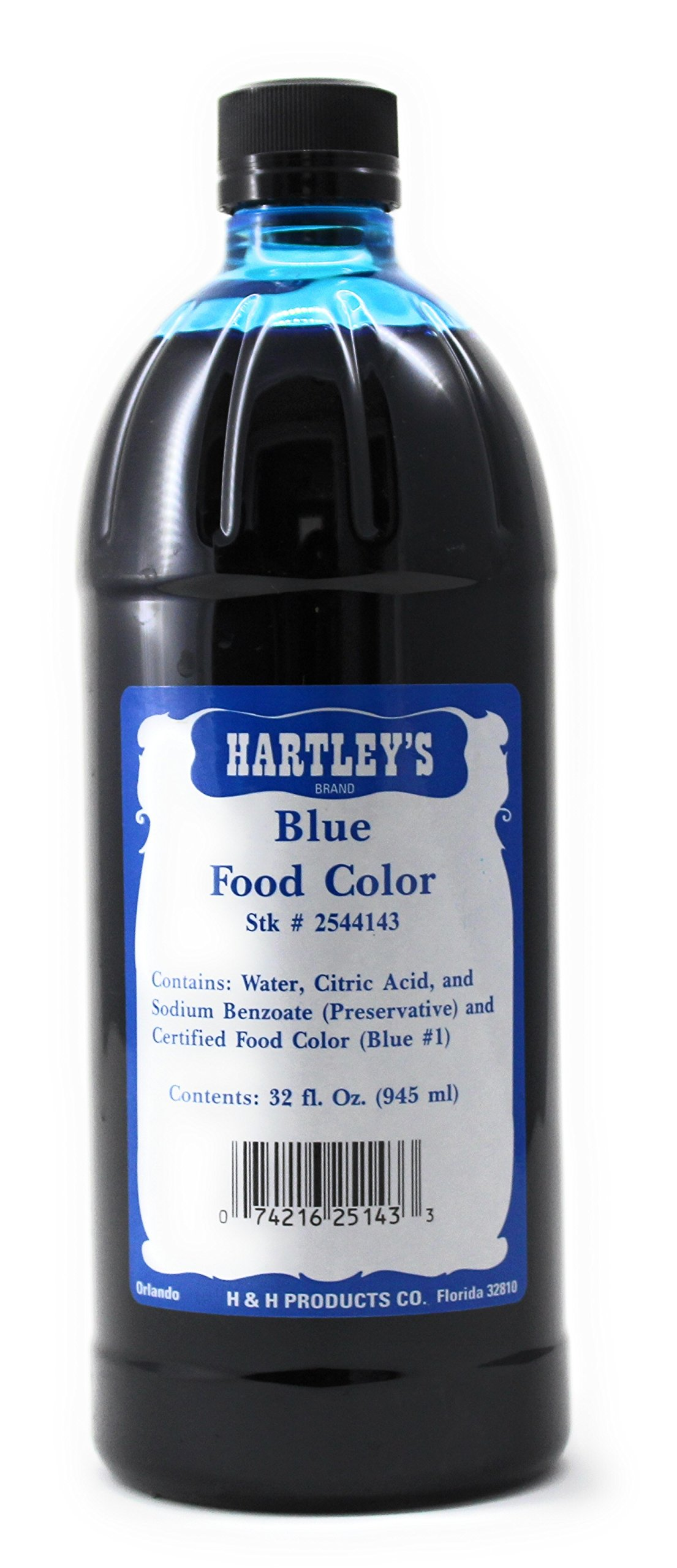Blue Food Coloring - Hartley's Commercial Grade Professional Kitchen Blue Culinary Liquid Color 32 Oz ✡ OU Kosher
