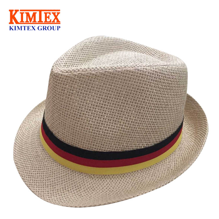 2017 Custom Fashion Promotional Boater Straw Hat