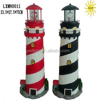 fiber resin solar lightspolyresin garden lighthouse - Garden Lighthouse