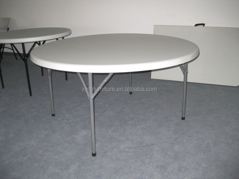 White plastic foldable round dining table chair buy - Plastic folding dining table ...