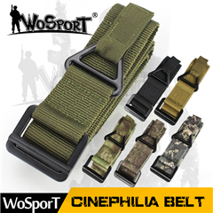 2.4 inches cordura pure colors outdoor combat army sport fabric belt for tatical