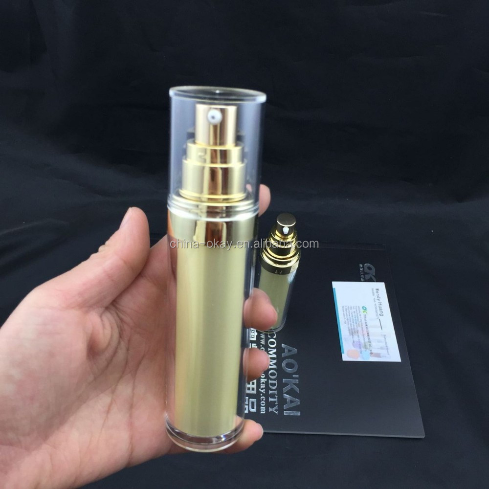 Wholesale 30ml Cylinder airless bottle/blue acrylic lotion bottle ...