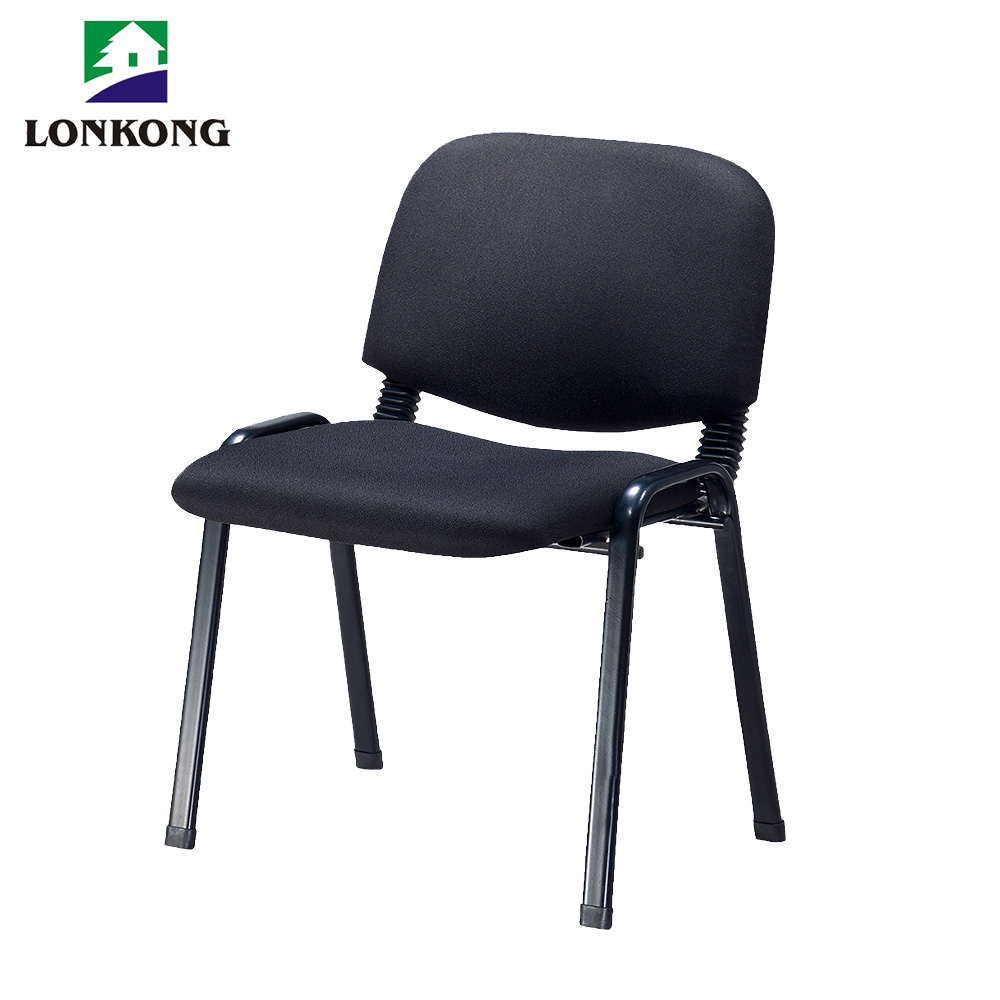 armless stackable office visitor chair training staff used conference room guest chair