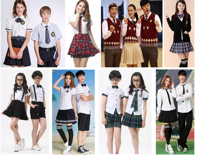 custom top quality cheap beautiful school uniform by
