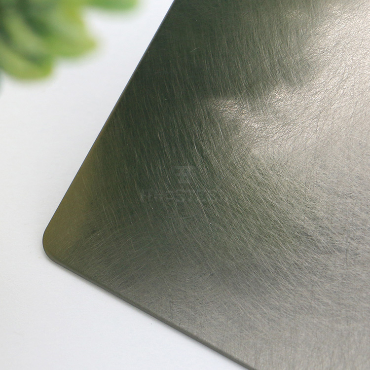China supplier inox plate stainless steel NO.4 vibration black colored surface metal sheet