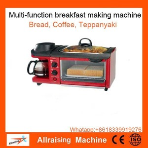 2017 New Portable 3 IN 1 Breakfast Maker electric bread coffee maker