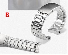 Ремешок для часов из нержавеющей стали 316L высшего класса, матовый серебристый браслет и складная застежка 20 мм 22 мм для автоматических часо...(Китай)