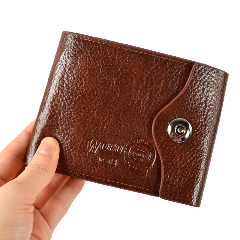 Men's high quality waterproof business id credit card wallet holder leather card holder wallet