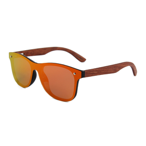 One piece sunglasses men women fashion polarized flat mirror sun glasses