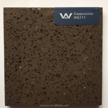 classical quartz(engineered) stone factory-dark brown- WG111