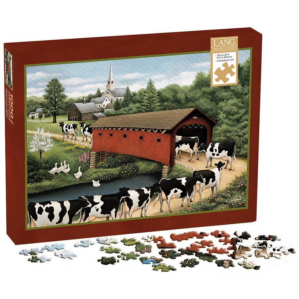 Lang Cows Cows Cows by Lowell Herrero Puzzle (1000-Piece)