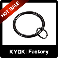 KYOK High quality european style curtain rings,wholesale black metal curtain rings,22/25/28 mm different size can be selected