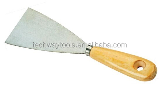 putty knife high quality stainless steel flexible blade putty knife construction tools/wood handle putty knife