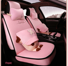 Universal Size Cute Cartoon Anime Pink Suede Fabric Car Seat Cover
