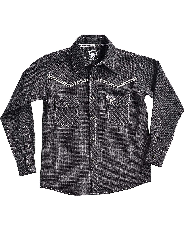 53c372f9b Get Quotations · Cowboy Hardware Boys Bucking Horse Burlap Print Long  Sleeve Shirt - 325214-010-K