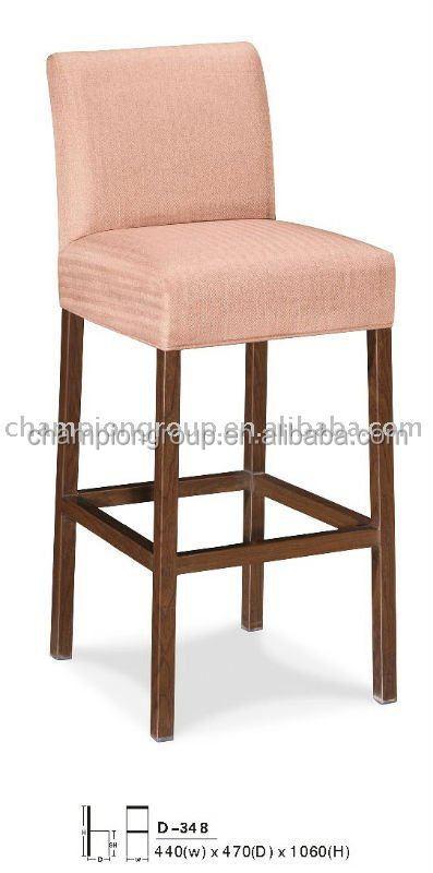 Fabric Bar Stool Chair, Wood Grain High Back Bar Chairs MX 0618