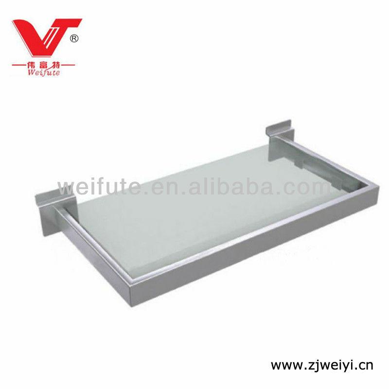 Metal Frame Glass Shelf For Slatwall - Buy Glass Shelf,Wooden Shelf ...