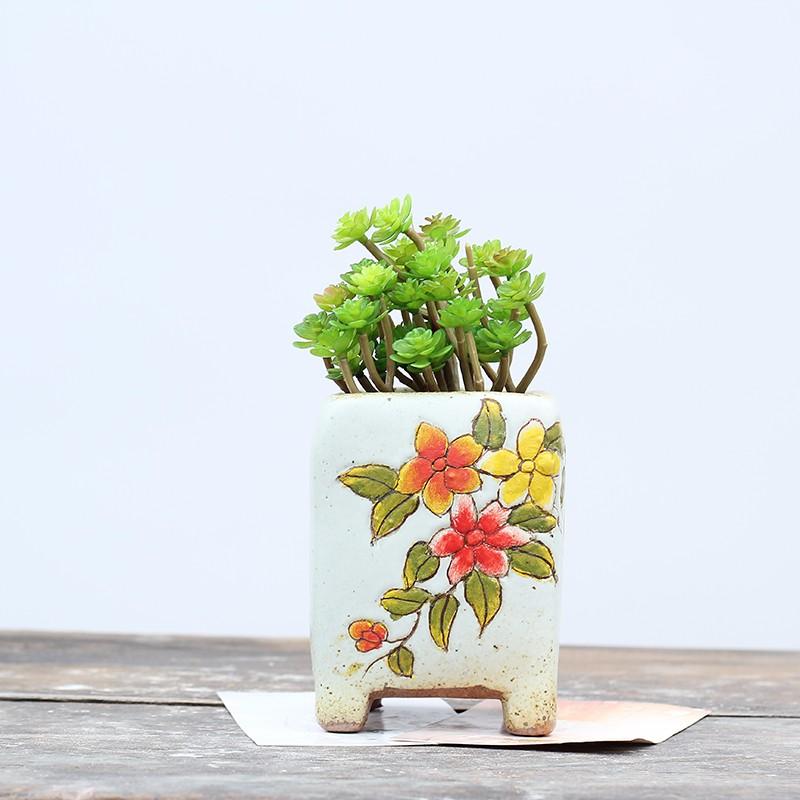 New fancy flower pot feet split clay pot planter for for Fancy flower pots