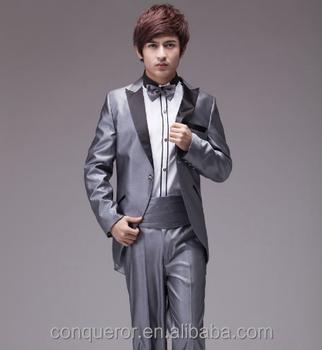Abito Matrimonio Uomo Grigio : Grigio argento vestiti di vestito degli uomini smoking matrimonio