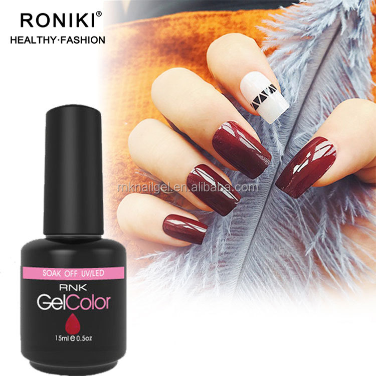 RONIKI Nail Art Designs 15 Ml Bottle Shining Glitter Color Gel Shiny Sliver Gold Platinum UV Gel