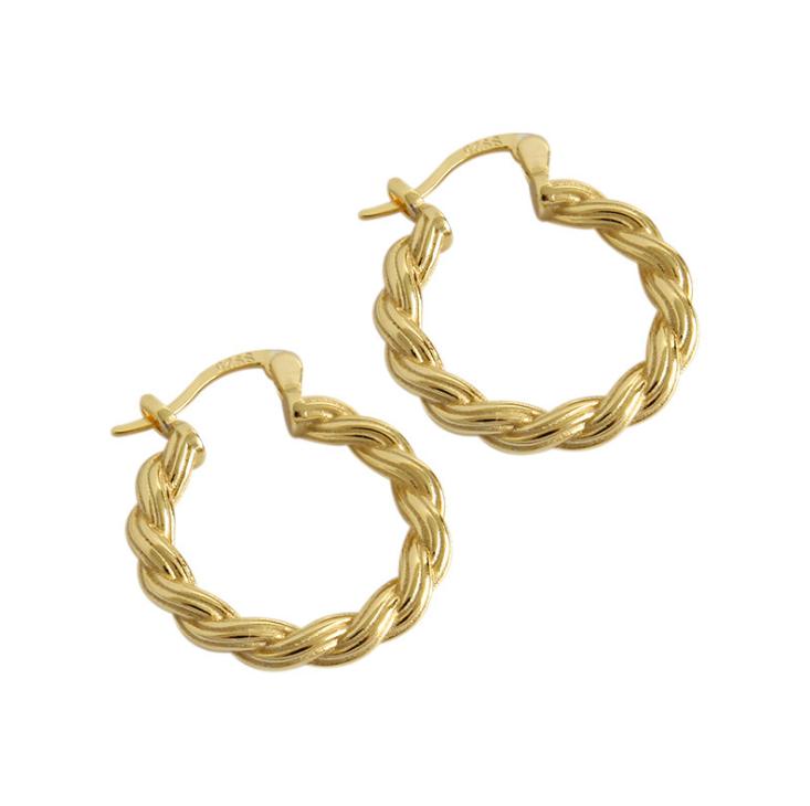 Klasik Benang Emas Drop Teardrop Anting-Anting untuk Wanita