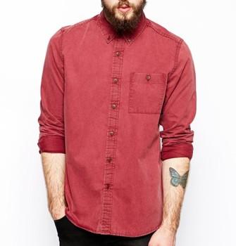 125260518d7f High Quality Fashion Long Sleeve Acid Wash Denim Shirt Men - Buy ...