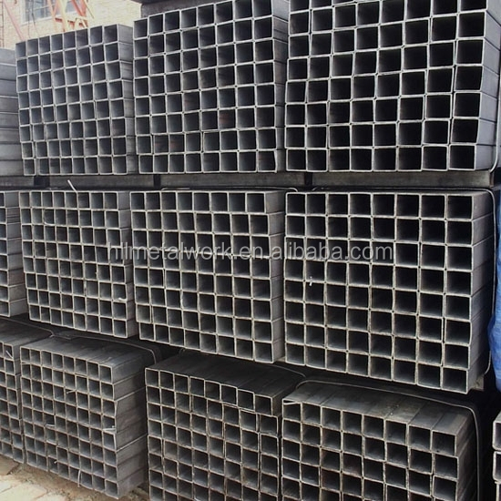 Factory price zinc coated square pipe/Q195-Q345 black square and rectangle steel pipe