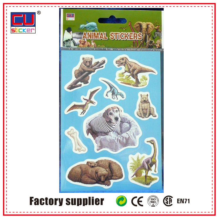 Newest Design Animal Skins Laptop Pop-up Sticker