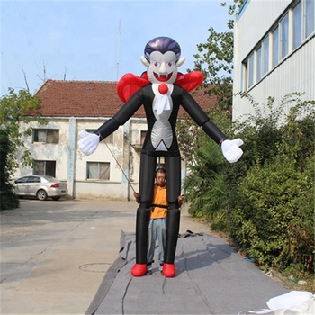 Outdoors performance inflatable long legs magician costume