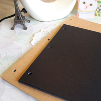 DIY Photo Album Black Card Cowhide Paper Vintage Handmade Scrapbooking Albums Frame Sheets for Kids