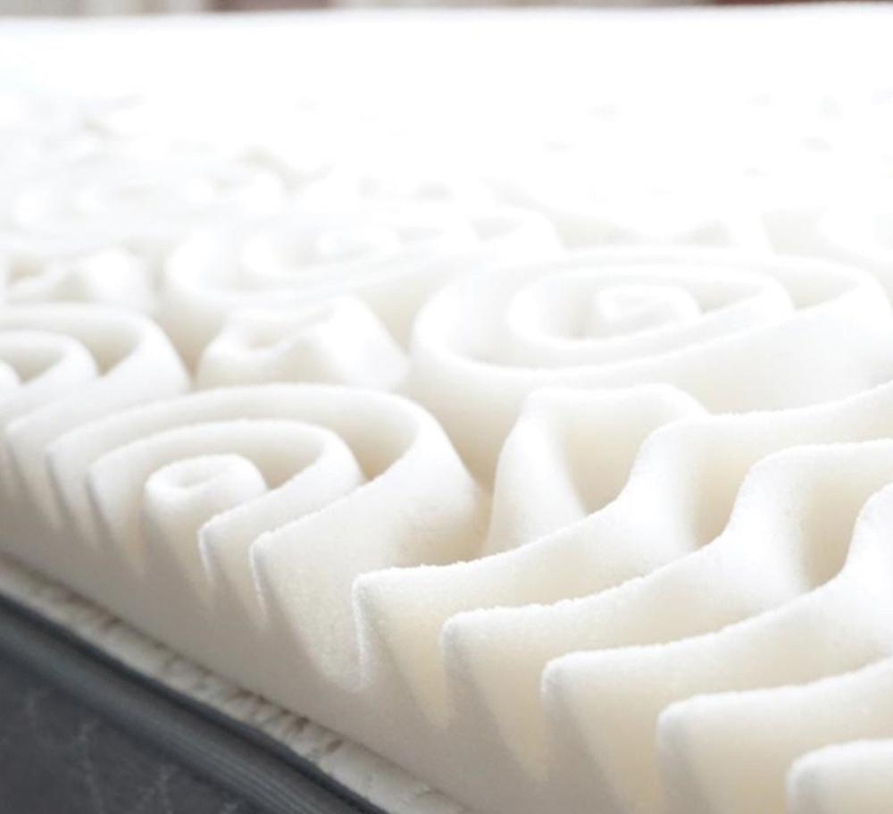 Egg Crate Memory Foam Mattress Pad, Bed Topper Pure Rest 5 Zone Memory Foam  Topper