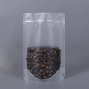 Plastic Standing Up Pouches Clear Transparent Doypack Food Packaging Resealable Ziplock Bags With Zipper