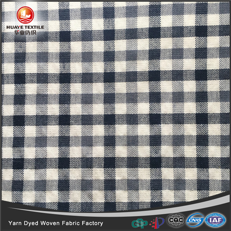 In-stock yarn dyed TC poly cotton woven plaid seersucker <strong>fabric</strong> for fashion shirt