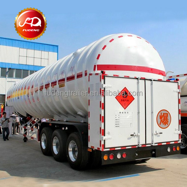 Tri-axle 50000 L transport Liquefied Natural Gas trailer lng tank truck
