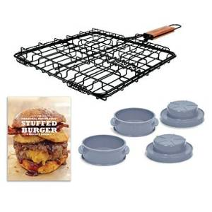 Stuffed Burger Set Essential Grilling Kit (Includes Recipe Book)