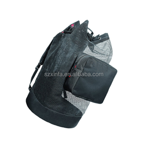 Snorkeling Scuba Diving Swimming 33 Inch Mesh Duffle Bag. Short Fin Bag, Swimming Gear Bag. Features Side Mesh Pocket.