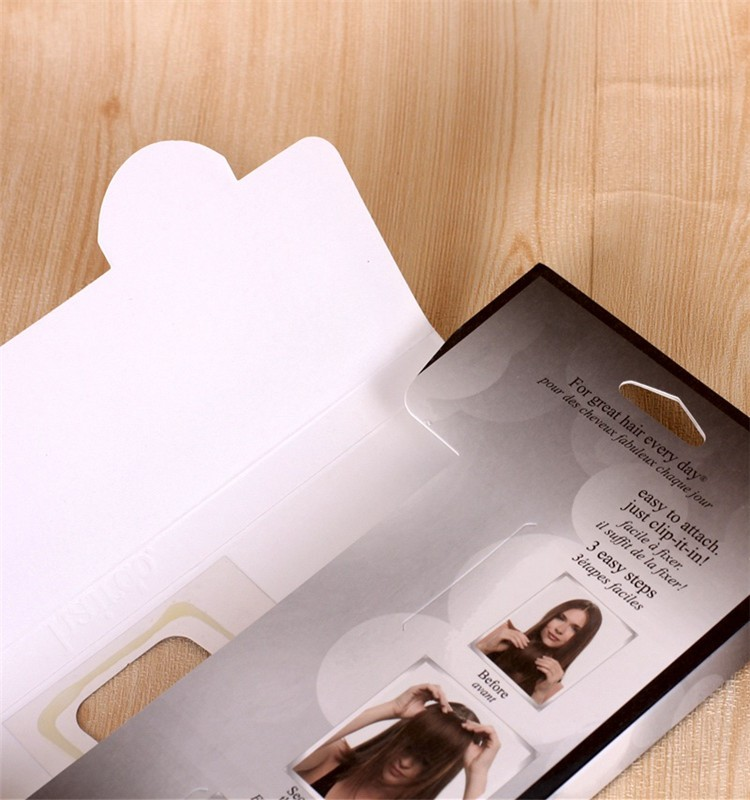 Manufacturer Custom Hair Extension Packaging Box Hair Weave Packaging Supplies