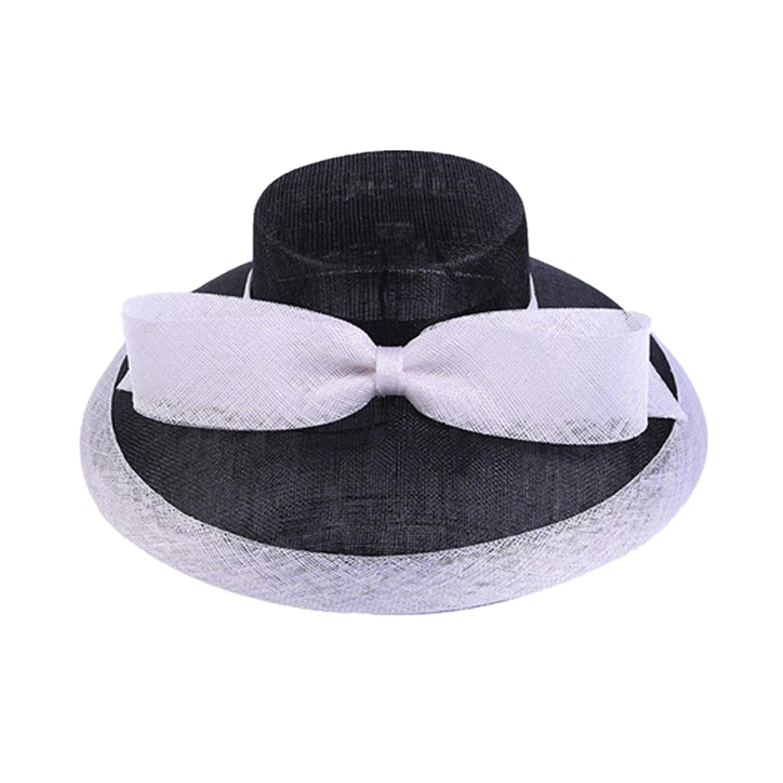 58296b9bb85 Get Quotations · Fashion Summer Hats for Women Sun Visors Cap Handmade  Bowknot Ladies Vacation Hat Beach Caps