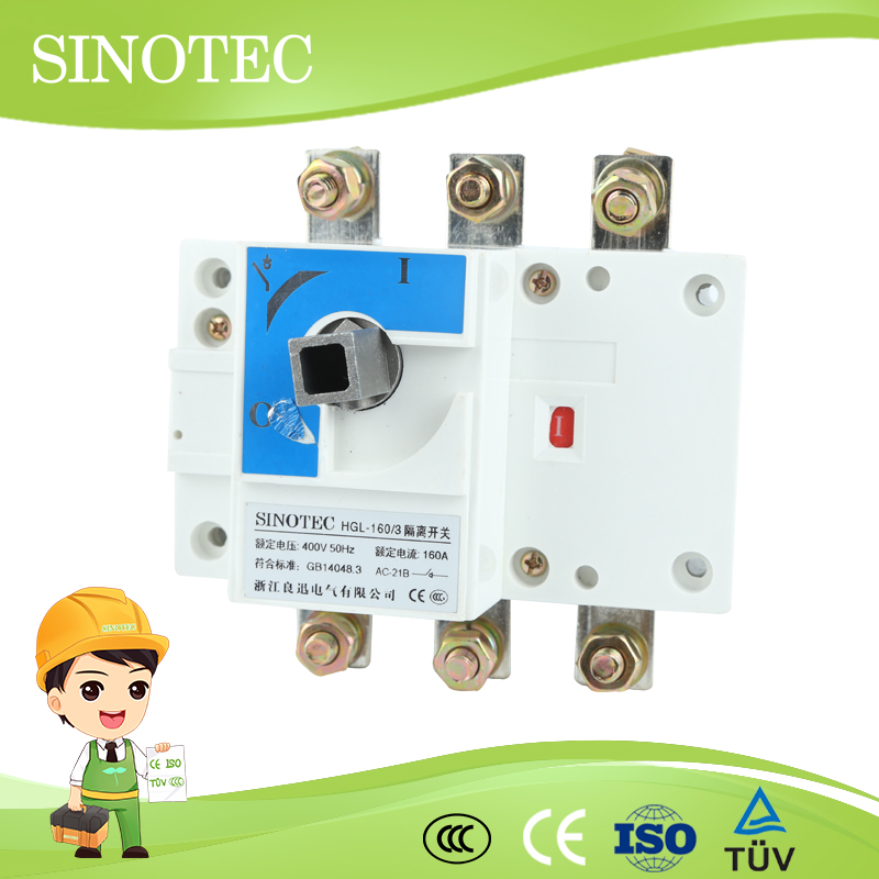 Load break 3 phase disconnect switch lemore load isolation switch knife switch double throw
