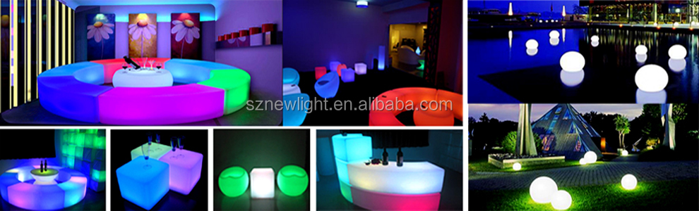 Color Changing LED Bar Table With Glass Top
